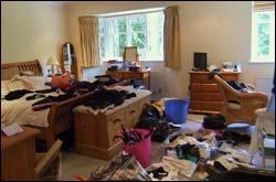 Bedroom before decluttering
