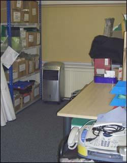 storage room after decluttering