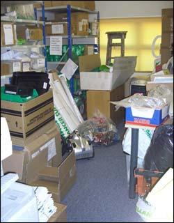 storage room before decluttering